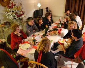 Familie met kerst