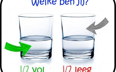 glas half vol-half leeg
